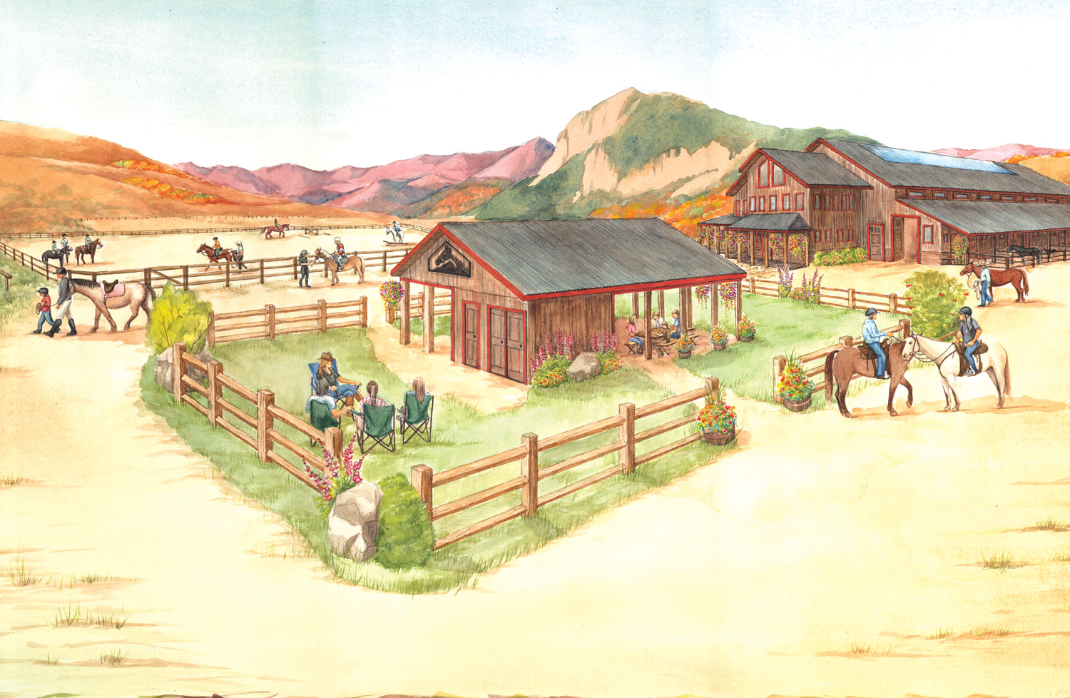 Crested Butte Horse Park Drawing
